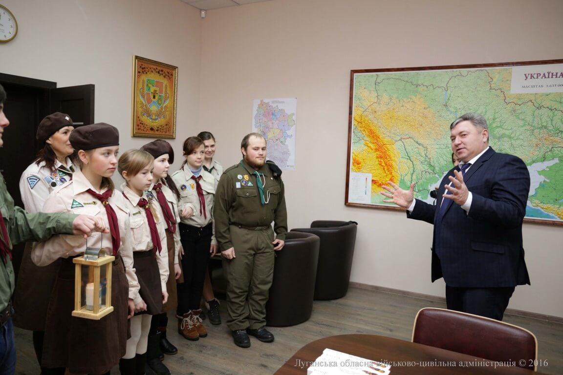 Вифлеємський Вогонь Миру досягнув Луганської області